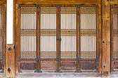 Traditional wooden door — Stock Photo