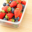Strawberries and Blueberries mix — Stock Photo #36483601