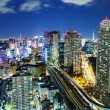 Cityscape in Tokyo at night — Stock Photo