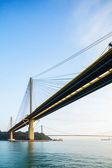 Suspension bridge in Hong Kong — Stock Photo