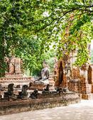 Arquitectura antigua en ayutthaya, Tailandia — Foto de Stock
