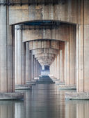Under the highway — Stock Photo