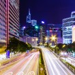 Traffic in Hong Kong at night — Stock Photo #36862629