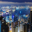 Stock Photo: Hong Kong city by night