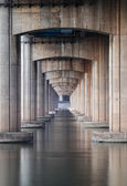 Under the highway and sea — Stock Photo