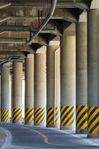 Under the highway road bridge — Stock Photo