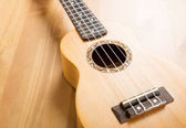 Wooden ukulele — Stock Photo