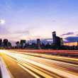 Stock Photo: Seoul city with car light