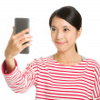 Asian girl selfie — Stock Photo
