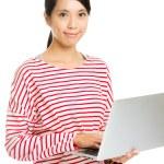 Asian woman using laptop — Stock Photo #36915807