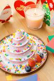 Cake for christmas celebration — Stock Photo