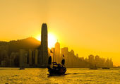 Silhouette of Hong Kong city — Stock Photo