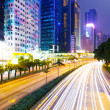 Stockfoto: Busy road in city at night