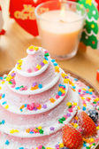 Christmas cake for party — Stock Photo
