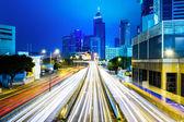 Traffic night in Hong Kong — Stock Photo