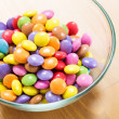 Colourful candy in bowl — Stock Photo