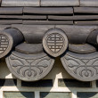 Roof eave of traditional building in Korea — Stock Photo