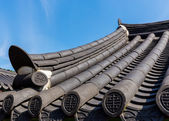 Roof eave of traditional architecture in Korea — Stock Photo