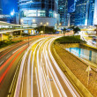 Busy traffic in city — Stock Photo