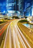 Hektisk trafik i city — Stockfoto