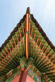 Traditionella koreanska arkitekturen tak takfoten — Stockfoto