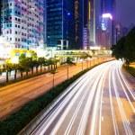 Traffic trail in Hong Kong — Stock Photo