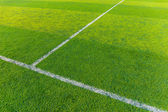 Synthetic football field — Stock Photo
