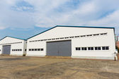 Storage warehouse at outdoor — Foto de Stock