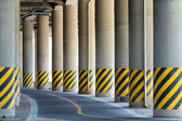 Bottom view under the viaduct — Stock Photo