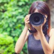 Female photographer — Stock Photo #37741947