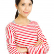 Stock Photo: Young asian woman smile
