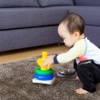 Asibaby playing pyramid build — Stock Photo #37742419