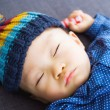 Asibaby boy take nap — Stock Photo #37742681