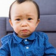 Stock Photo: Asibaby boy feel sorrow