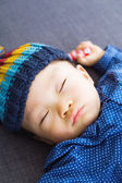 Asian baby boy take a nap — Stock Photo