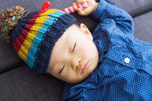 Asian baby boy sleeping — Stock Photo