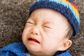 Asian baby boy crying — Stock Photo
