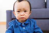Asian baby boy feel sorrow — Stock Photo