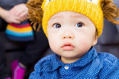 Asian baby boy feeling sad — Stock Photo