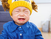 Asian baby boy yelling — Stock Photo