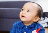 Asian baby boy at home — Stock Photo