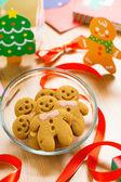 Xmas için zencefilli kurabiye — Stok fotoğraf