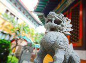 Chinese traditional dragon statue — Stock Photo