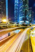 Hong Kong building at night — Stock Photo