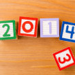 Toy block for 2013 to 2014 — Stock Photo
