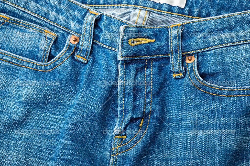 牛仔裤的拉链了
