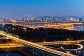 Nuit de ville de Séoul — Photo