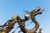 Concrete dragon statue — Stock Photo