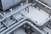 Pipe on the roof top — Stock Photo
