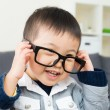 Asilittle boy wear glasses — Stock Photo #38451615